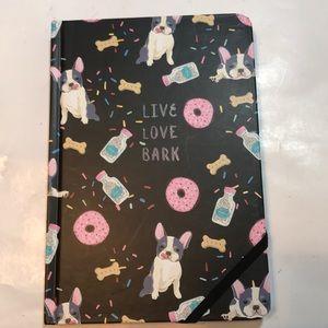 "🆕 French Bulldog Journal ""Live Love Bark"""